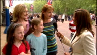 Royal wedding of Prince William and Kate Middleton ITV News Special PAB 1330 1430 Reporter Sameena Ali Khan 2 WAY from The Mall Vox pops with two...