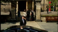 Royal wedding of Zara Phillips to Mike Tindall arrivals at church SCOTLAND Edinburgh Canongate Kirk EXT * * Bagpipe music heard during the following...