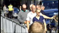 Royal wedding of Zara Phillips to Mike Tindall arrivals the day before Zara Phillips and Mike Tindall out of car as arriving at Canongate Kirk for...