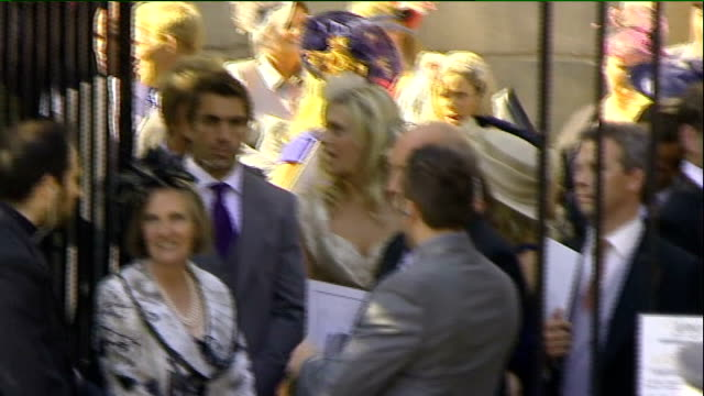Royal wedding of Zara Phillips to Mike Tindall departures from church Various of other guests including Andy Robinson Austin Healey and Martin...