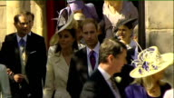 Royal wedding of Zara Phillips to Mike Tindall departures from church Members of the royal family leaving church including Queen Elizabeth II Prince...
