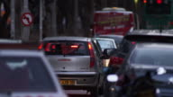 Royalty Free Stock Video Footage of busy Tel Aviv street shot in Israel at 4k with Red.