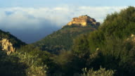 Royalty Free Stock Video Footage of Nimrod Fortress above clouds shot in Israel at 4k with Red.