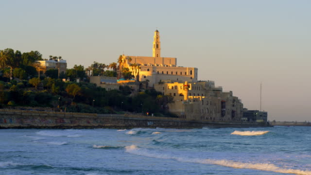 Royalty Free Stock Video Footage of St. Peter's Church in Jaffa shot in Israel at 4k with Red.
