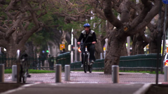 Royalty Free Stock Video Footage of Tel Aviv crosswalk shot in Israel at 4k with Red.