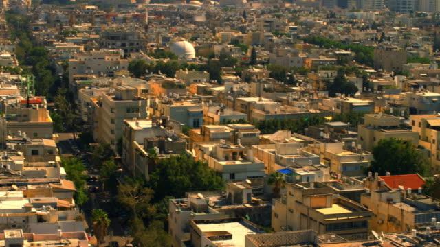 Royalty Free Stock Video Footage panoramic of a Tel Aviv cityscape shot in Israel at 4k with Red.