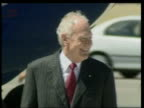 Queen and Prince Philip Arrive in Australia UK AUSTRALIA Adelaide Dr Peter Hollingworth waiting on tarmac at airport LA LMS Queen Elizabeth II down...