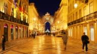 T/L WS Rua Augusta at night, Lisbon, Portugal