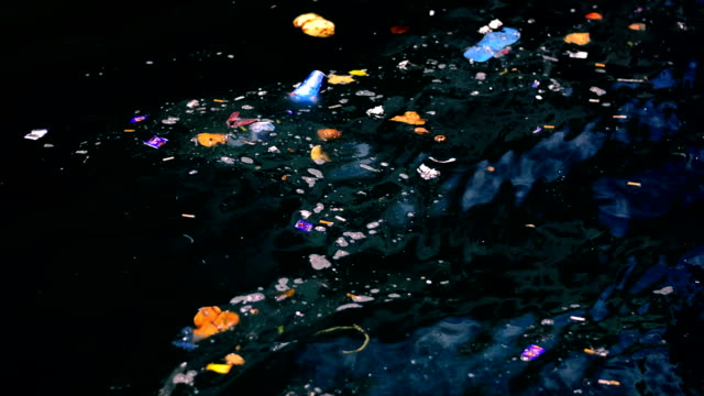 Rubbish in the sea