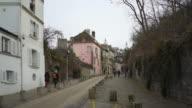 Rue de l'Abreuvoir and the 'Maison Rose' Paris in winter.