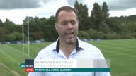 Rugby World Cup 2015 Home Nations' hopes ENGLAND London Twickenam EXT Martin Bayfield 2 WAY interview from Pennyhill Park in Surrey SOT