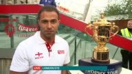 Rugby World Cup 2015 Trophy tour Robinson LIVE 2WAY interview from London Eye SOT