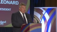 Rugby World Cup 2015 Wales Welcome Ceremony Lobb SOT / Jason Leonard speech SOT / Dennis Gethin speech SOT / Lobb SOT / Prince William and Lapasset...