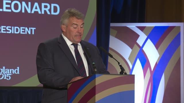 Rugby World Cup 2015 Wales Welcome Ceremony Lobb SOT / Jason Leonard speech SOT / Dennis Gethin speech SOT / Lobb SOT / Prince William and Lapasset...