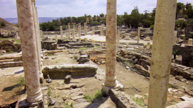 Ruined columns of ancient town