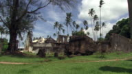 Ruins and palms