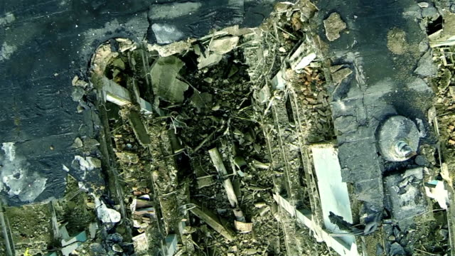Ruins of a building after bombing