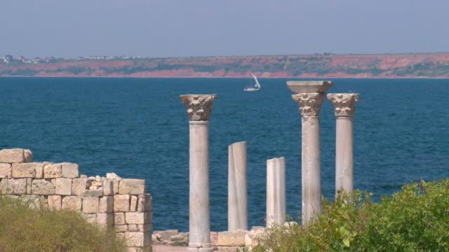 Ruinen eines alten Tempel an der Küste
