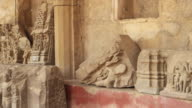 Ruins of various ancient hindu sculptures found in Abhaneri, near Jaipur, Rajasthan