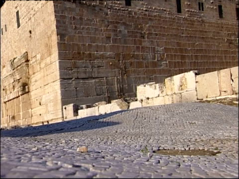 Ruins remain in the courtyard of the Temple Mount in Jerusalem.