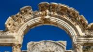 Ruins Temple of Hadrian in Ephesus, Selçuk village, Izmir Region, Turkey