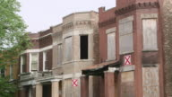 MS TU Run-down abandoned apartment buildings day