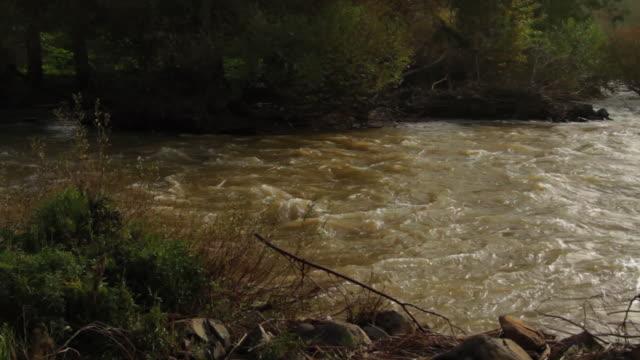 runing water in jordan river- winter 2013