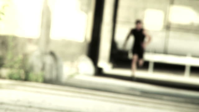 Runner De-Focused in Grunge