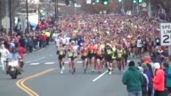 15000 runners head to camera in running road race shot head for 60 secondss