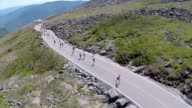 Runners heading up Mt Washington Auto Road 76 miles650 elevation gain