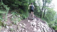 Running down the forest path