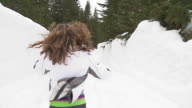 HD STEADYCAM: Running In The Snow