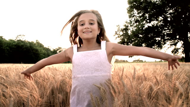 HD SUPER SLOW-MOTION: Running In Wheat