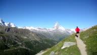 Running near the Matterhorn