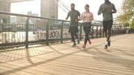 Laufen in Richtung ihr Ziel