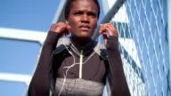 HD: Running Woman Listening Music