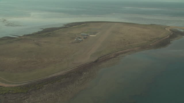 Runway at Troughton Island, Australia from the air