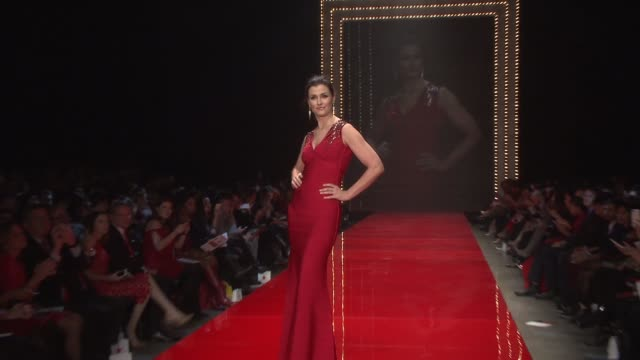 Runway Show at The American Heart Association's Go Red For Women Red Dress Collection 2017 Presented By Macy's at Hammerstein Ballroom on February 9...