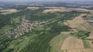 AERIAL Rural landscape, Saarland, Germany