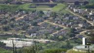 PAN SLO MO rural township landscape in/ KwaZulu-Natal/ South Africa