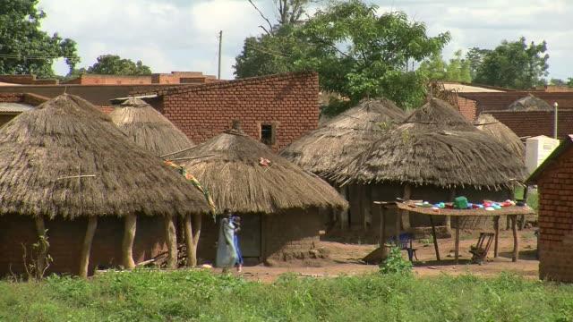 Ländliches Dorf in Afrika