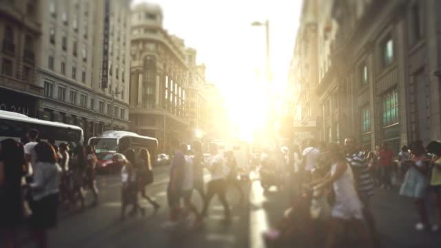 Ora di punta nella Gran Via, Madrid