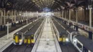 Rush hour in London Liverpool Street railway station.