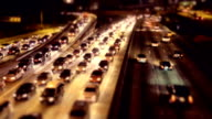 Rush hour night Traffic on LA - timelapse