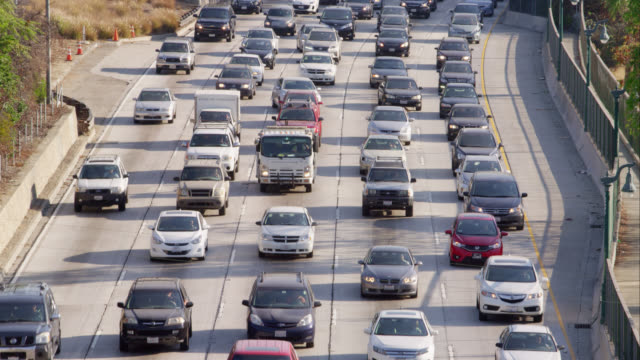 HA LS TU rush hour traffic on freeways, RED R3D 4K, 4K, 4KMSTR