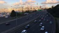 Rush hour traffic on New Zealand State Highway 1 in Auckland