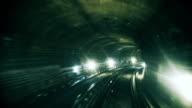 Rushing through a Metro Tunnel