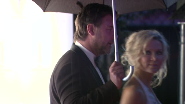Russell Crowe and Danielle Spencer attend the Opening Night Dinner at the Hotel Majestic during the 63rd Annual International Cannes Film Festival at...