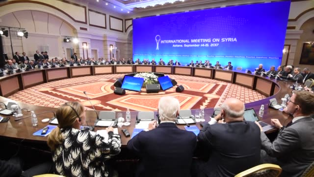 Russia Iran and Turkey strike a deal to jointly police a fourth safe zone around Syria's Idlib province as part of a Moscowled plan to ease the...
