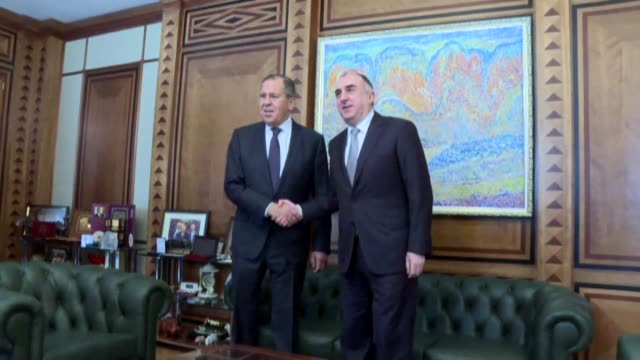 Russian Foreign Minister Sergei Lavrov meets with his Azerbaijani counterpart Elmar Mammadyarov in Baku Azerbaijan on November 20 2017